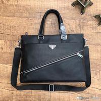 kullanılan el arabaları toptan satış-High-end lüks erkek evrak çantası taşınabilir Messenger çanta deri üretim tasarımcı çanta siyah iş rahat çift kullanımlı numarası: 1255-1.