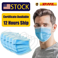 Wholesale Face Mask With Box Layer Ear loop Dust Mouth Masks Ply Non woven Disposable Dust Mask Designer Masks DHL days arrive