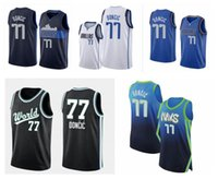 malhas de faca costuradas venda por atacado-NCAA Luka77Doncic College Basketball Jerseys 100% costurado 2019 New Top Quality NOVO