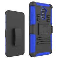 Wholesale zte grand x covers for sale – best Silicone PC Defender Holster Belt Clip Rugged Case for ZTE Imperial Max Z963U Grand X Max KIRK Z988 Max Duo Cover with Stand