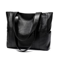 bolsas grandes versátiles al por mayor-Diseñador-otoño e invierno nueva moda simple y versátil bolso de gran capacidad bolso bandolera