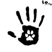 impressão de decalques venda por atacado-Cópia criativa da mão com a etiqueta / decalque do carro do vinil do salvamento do animal de estimação do gato da cópia