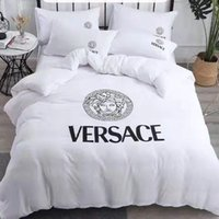 Wholesale quilts resale online - Chic Branded Polyester Cotton Home Textile Adult Soft Bedding Set Bed Solid Duvet Cover Asian Size Quilt Cover Brief Bedclothes