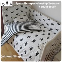 Wholesale girl bedding ruffled for sale - Group buy Discount Baby Bedding Set Cotton Baby Boys Girls Nursery Bedding Cot Bedding cm