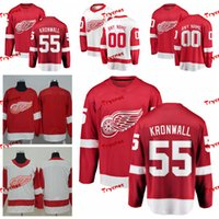 ingrosso jersey di kronwall-2019 Detroit Red Wings Niklas Kronwall Maglie Personalizza Home Red Shirts # 55 Niklas Kronwall Maglie Hockey S-XXXL C Patch