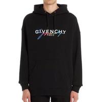 hoodies conçus par les hommes achat en gros de-givenchy giv Design Luxury 19ss Europe floue paris Hoodies France Mode sweat felpa noir impression hommes femmes Hooded wm01