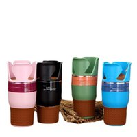 Wholesale car cell phone organizer for sale - Group buy Rubber Multifunction Car Drinking Bottle Holder Rotatable Water Cup Holder Cell Phone Organizer Car Interior Accessories