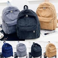 Wholesale ladies rucksack handbags for sale - Group buy 2019 Newest Hot Women Lady Backpack Travel Solid Corduroy Handbag Satchel Rucksack Shoulder School Bag Backpacks