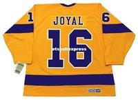 hockey jerseys оптовых-обычай мужские ЭДДИ ДЖОЯЛ Лос-Анджелес Кингз 1970 CCM Jerseys Vintage Home Дешевые Ретро Хоккей Джерси