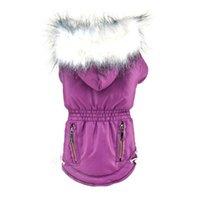 perro sudaderas impermeables al por mayor-Ropa del animal doméstico del perrito de invierno impermeable capa de la chaqueta con capucha del traje de mascota Pequeño gruesas ropa de la ropa Outwear