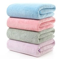 Wholesale chest towel for sale - Group buy Microfiber Fabric Coral Fleece Towel CM Thicker Soft Absorbent Bath Towel Home Wrapped Chest Adult Large Towels