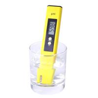 medidor de ph 14 venda por atacado-Medidor Digital, 0.01 Alta Precisão Qualidade 0-14 Faixa de Medição para Beber Doméstico, Piscina e Aquário de Água PH Tester Design com ATC