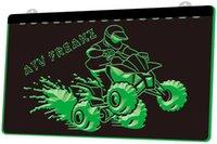 Wholesale atv free ship for sale - Group buy LD3701 ATV Ride Freakz Neon Light Sign Decor Dropshipping colors to choose