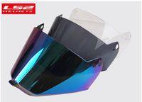 Wholesale ls2 helmet off road resale online - Visor for LS2 MX436 Motocross motorcycle helmet replacement dual lens Capacete off road LS2 MX436 casco moto shield glasses