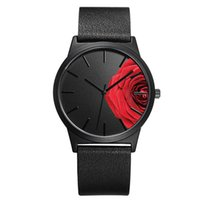 женские часы для женщин оптовых- Flower case Japanese movement leather women watch  rose gold round fashion female quartz watch reloj mujer
