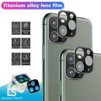 protector de pantalla de cristal iphone al por menor al por mayor-Cámara pantalla de la película del protector para el iPhone 11 Cubierta de lente de cámara de vidrio templado de titanio completo dura trasera Pro Max cámara con Box