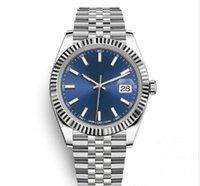 satılık mekanik saatler toptan satış-Sıcak satış 41mm Paslanmaz Çelik Katı Toka Otomatik hareketi 2813 Mekanik İzle Erkekler Büyük Tarih Başkan Desinger Erkek Saatler