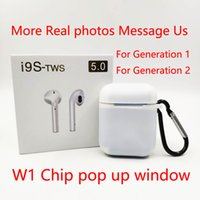 Wholesale phone cases for androids online – custom W1 Chip Generation TWS Bluetooth Earphones to1 Size Headphones pop up Window Headset Support Wireless Charging Case For Iphone Android