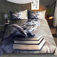Wholesale owl bedding full for sale - Group buy Owl Bedding Set Queen Vivid Printed Duvet Cover D Books Animal Bedspreads for Adults Microfiber Piece Bed Set