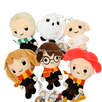 Wholesale black white figures resale online - arry Potter Stuffed plush dolls toys Ron Malfoy Hermione Dobby Hedwig Keychains Pendants Soft Gifts Plush kids Toy CM inch