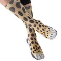 professionelle fußballcamps großhandel-2018 Neuheit 3D Stempeln Tier Fuß Füße Crew Socken Erwachsene Digitale Simulation Socken Unisex Tiger Hund Katze Socke