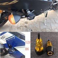 yamaha yzf carenado al por mayor-Para YAMAHA YZF-R6 YZFR6 YZF R6 2017 2018 Motocicleta Falling Protection Frame Slider Fairing Guard Anti Crash Pad Protector