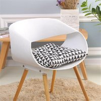 Wholesale stool black for sale - Group buy Black Rectangle Seat Cushion Chair Pillow For Office Home Study Sitting Pad Comfortable Sofe Mat Kitchen Stool Cushion For Decor