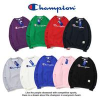 kaşmir süveter katları toptan satış-9 renkler Champ mektuplar nakış hoodies Sonbahar Kış Erkek Kadın Lüks uzun kollu Tişörtü Pamuk Kapüşonlu kazak Kaşmir palto ile