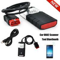 vci bluetooth оптовых-R3 Автомобиль Грузовик OBD Диагностические Сканеры Комплекты VCI OBD2 TCS CDP Сканирующий Аппарат R Bluetooth USB для DELPHI DS150E