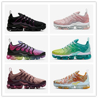 Wholesale army color sports shoes resale online - Men Sneakers TN Plus Running Shoes Reverse Sunset Triple Black Iridescent Rainbow Cool Grey Womens Trainers Designer Sport Shoes new color