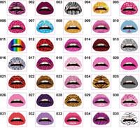 tatouage temporaire des lèvres achat en gros de-Produits Tatouage éclair pour les lèvres Tatouage temporaire Faux Tatoo Gold Maquillage imperméable à l'eau maquiagem tatouage tatouage tatouages CT004