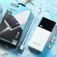 cargadores de baterias recargables nimh al por mayor-20000mAh Banco de alimentación USB doble de carga del enchufe incorporado polímero de litio de carga rápida con luz LED de encendido de la pantalla Mostrar