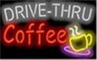 néon, café, sinais venda por atacado-Nova Estrela Sinal de Néon Fábrica 17X14 Polegadas de Vidro Real Luz de Sinal de néon para Beer Bar Pub Sala de Garagem Drive Thru Coffee Signboard Cafe Shop.