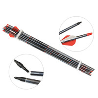Wholesale arrows for recurve bow resale online - 30 inch Archery Carbon Arrow grain Arrowheads Rubber Arrow Feather Shooting Hunting Target for Recurve Compound Bow Practice Spine