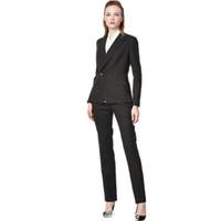 tenues professionnelles femmes achat en gros de-Tailleur pantalon femme costume professionnel costume OL costume d'affaires personnalisé pour deux personnes