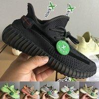 kanye west black оптовых-2019 Kanye West Дизайнерская обувь Черный Светоотражающий Крем Зебра Белый Синий Оттенок Мужские женские кроссовки Спортивные кроссовки с коробкой 5-13