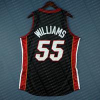 sipariş beyaz nakış toptan satış-% 100 Dikişli Jason Williams Mitchell Ness 05 06 siyah Jersey Finalleri Toptan Jersey Erkek Yelek Boyut XS-6XL Dikişli basketbol Formalar Ncaa