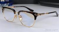 Wholesale steampunk eyeglass frames for sale - Group buy new logo eyeglass chrom H glasses VERTI prescription men eye frame brand designer prescription glasses vintage frame steampunk style