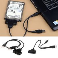 sata sürücü ide toptan satış-IDE SATA Dönüştürücü Kablo için Dayanıklı Evrensel Dizüstü Aksesuarları USB 2.0 Üç kullanılan 2.5 / 3.5 Sabit Disk HD HDD Adaptörü Bağlayıcı
