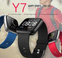 ingrosso ordinare porcellana di moda-Y7 Smart Fitness Cinturino braccialetto 3 ID115 Plus Blood Pressure Oxygen Sport Tracker Guarda cardiofrequenzimetro da polso Fast Ship