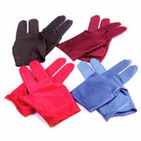 guantes de un solo dedo al por mayor-A prueba de sudor Three Fingers Billiard Club Guantes antideslizantes Mano izquierda Guante único Propósito especial para billar Partes 0 9de I1