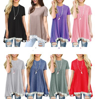 Wholesale maternity clothes online - New Maternity clothes Summer Lace Dresses for pregnant women Short sleeve Big sweep Plus size