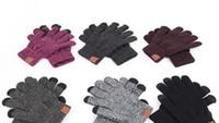 пена красное яблоко оптовых-C перчатки теплая зима вязание пальцев портативные перчатки спорт на открытом воздухе с сенсорным экраном пять пальцев перчатки 6 цветов DHL бесплатная доставка