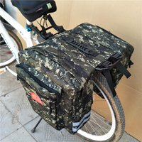Wholesale cycling handle resale online - Mountain Road Bicycle Bike In Camo Trunk Bags Cycling Double Side Rear Rack Tail Seat Pannier Pack Luggage Carrier