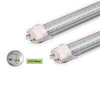 4ft led röhre licht transparente abdeckung großhandel-LED T8 Röhren Zweireihig 2FT 3FT 4FT LED Lichter 18W 28W 36W SMD2835 LED Leuchtstofflampen Transparente Abdeckung