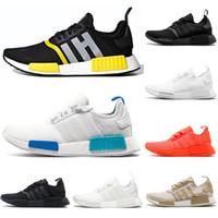 kadınlar için serin rahat ayakkabılar toptan satış-adidas 2020 Thunder NMD R1 rahat ayakkabılar erkek kadın Güneş Kırmızı Üçlü siyah beyaz japonya bred açık OG Serin gri erkek eğitmenler spor sneakers