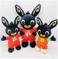 peluş bebek tavşan toptan satış-25 cm Bing Bunny Peluş Oyuncak Bebek Peluş Hayvan Bing Bunny Bebek Tavşan Hayvan Yumuşak Çocuk Oyuncak Noel Hediyesi