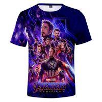t shirt yeni stil tasarımları toptan satış-Yeni Tasarım T Gömlek Erkekler Kadınlar Marvel Novie Avengers 3D Baskı T-Shirt Kısa Kollu Harajuku Tarzı Tshirt Streetwear Tops