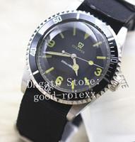 Wholesale classic dive watches resale online - Vintage Mens Watches Men s Watch Men Classic Style Automatic Auto Date Special Black Dial Nato Fabric Strap Sport Dive Wristwatches