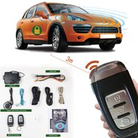 Wholesale car lock system keyless for sale - Group buy car alarm sheriff GPS tracking central locking Auto alarm signaling start stop button keyless entry system remote start antenna